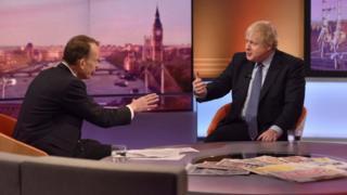 Boris Johnson on the BBC's Andrew Marr show