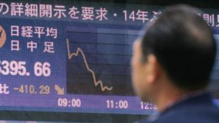 Nikkei going down