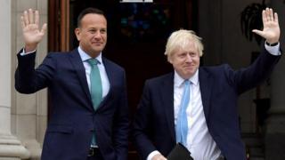 Boris Johnson and Leo Varadkar