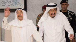 امیر کویت (چپ) و پادشاه عربستان