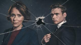 Keeley Hawes and Richard Madden in the Bodyguard