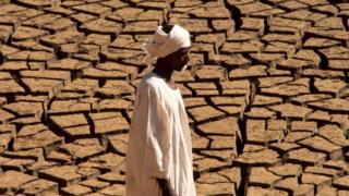 A man in the desert in Sudan