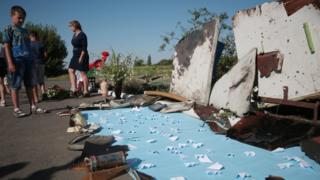 Обломки потерпевшего крушения самолета