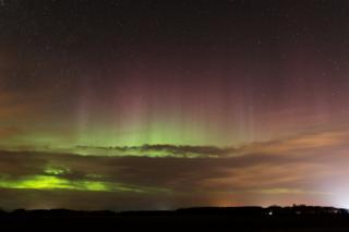 Aurora from Duffus Castle