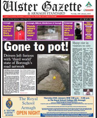 Ulster Gazette front page 24 January