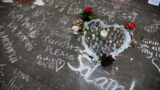 Messages left at attack site