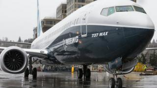 Boeing 737 MAX on tarmac