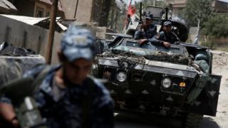 قوات عراقية تشارك في معارك الموصل
