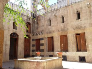 Zahed's courtyard after the war