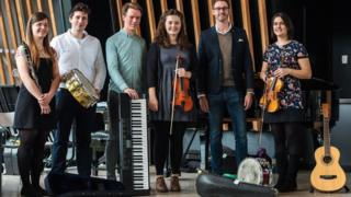 David Mahoney and members of The 'Not New' Novello Orchestra