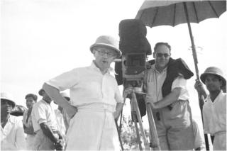 Wirsching (right) on location in India with Osten, 1937