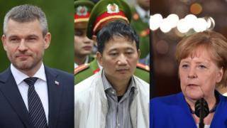 Thủ tướng Slovakia, Peter Pellegrini, và thủ tướng Đức, bà Angela Merkel trong động thái chưa từng có của lịch sử ngoại giao châu Âu đã cùng công khai nói với báo chí hôm 2/5/2018 về vụ 'bắt cóc Trịnh Xuân Thanh'.