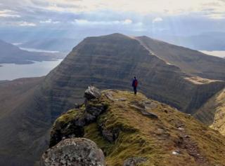 Torridon while climbing Beinn Alligin.