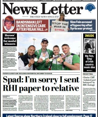 News Letter front page 18/04
