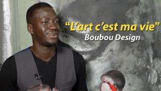 Boubou Design, peintre et phénomène des réseaux sociaux au Sénégal