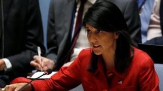 นางนิกกี ฮาลีย์ ทูตสหรัฐฯ ประจำสหประชาชาติ