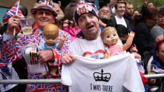 Royal watchers celebrate the birth of the baby
