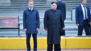 Александр Козлов и Ким Чен Ын
