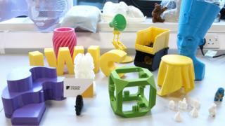 Items printed by the 3D printer