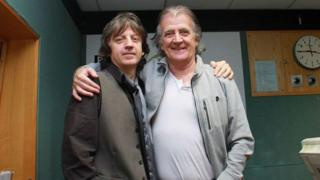 Bap Kennedy, pictured here with the late Gerry Anderson, was a regular performer on Radio Ulster