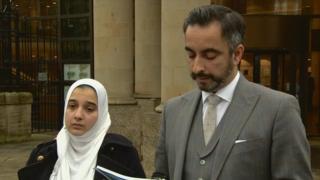 Sadia Ahmed outside court
