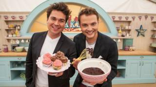 Sam and Mark presented the most recent series of Junior Bake Off