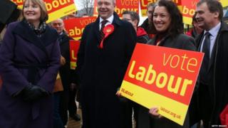 Sarah Champion (right) at a Labour rally in 2013