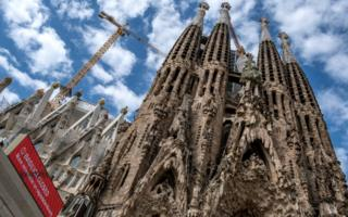 The basilica of the Sagrada Familia in Barcelona remains closed to the public and tourists