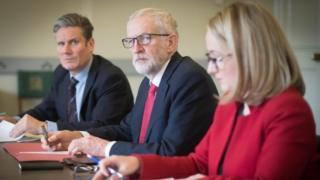 Sir Keir Starmer, Jeremy Corbyn, Rebecca Long-Bailey