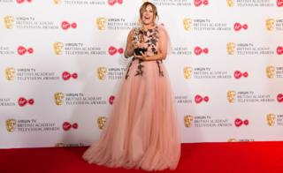 in_pictures Caroline Flack at the Bafta Awards 2018