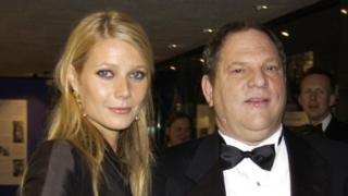 Gwyneth Paltrow y Harvey Weinstein.