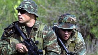 Yunan Özel Kuvvetleri mensuplarının arşiv fotoğrafı