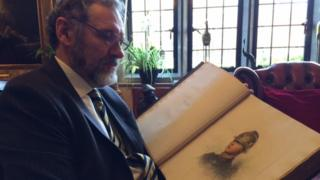 Dr Christopher Barnett, Headmaster of Whitgift School with an original Burnand Portrait