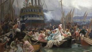 Napoleon in Plymouth Sound, August 1815 (Napoleon on Board the Bellerophon at Plymouth)