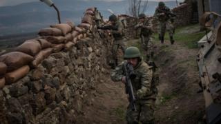 Турецкие военнослужащие на сирийской границе