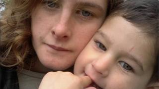 Isaac Brocklehurst with his mum, Gemma