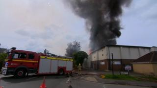 Fire at sports centre