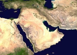 تصویر ماهوارهای خلیج فارس و تنگه هرمز