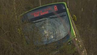 Guided bus crash