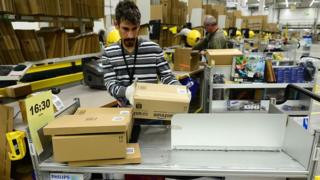 Packing in Amazon warehouse Germany