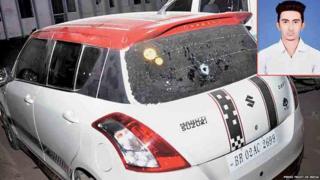 Bihar road rage car
