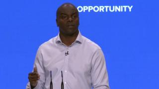 Shaun Bailey at the Conservative conference