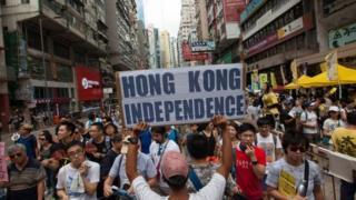 การเดินขบวนสนับสนุนประชาธิปไตยที่ฮ่องกง ดึงดูดฝูงชนจำนวนมากทุกปี (ภาพจากปี 2016)