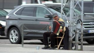 Человек с аккордионом
