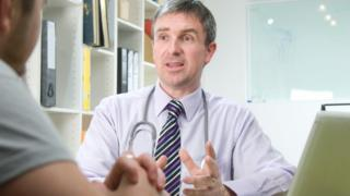 GP talking to a patient