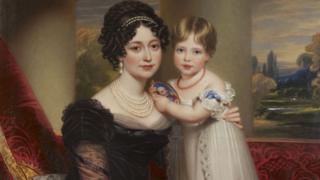 Герцогиня Кентская с дочерью Викторией
