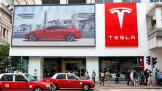 магазин Tesla в Гонконге