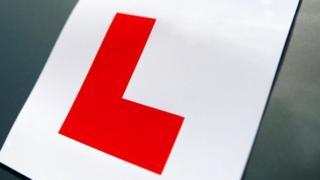 Un apprenti conducteur autocollant