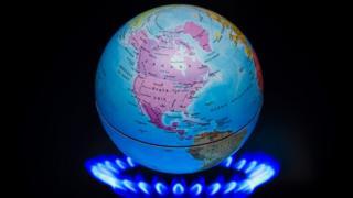 火焰上的地球仪