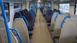 Empty train carriage